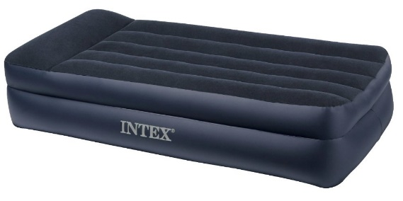Most Comfortable Air Mattress Intex Pillow Rest Airbed with Built-in Pillow and Electric Pump