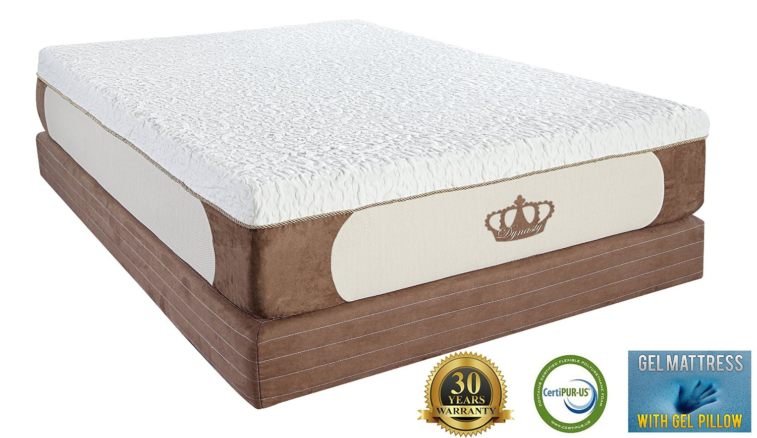Best Gel Memory Foam Mattress DynastyMattress Cool Breeze 12-Inch