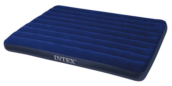 Most Comfortable Air Mattress Intex Classic Downy Airbed, Queen