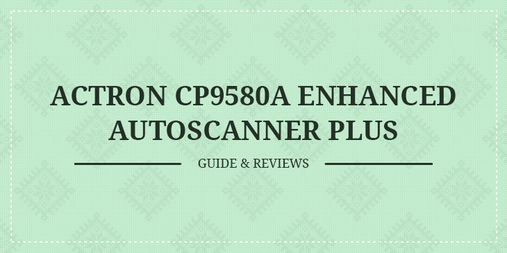 actron scan tool cp9580