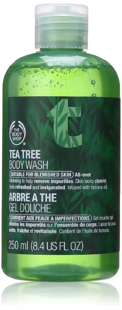 Best Body Wash for Acne Prone Skin The Body Shop Tea Tree Body Wash