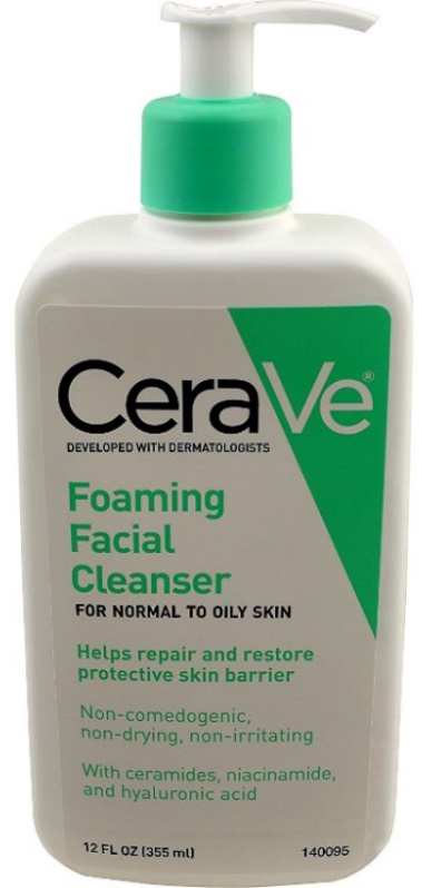 Facewash For Oily Skin CeraVe Foaming Facial Cleanser for Oily Skin, 12 Ounce