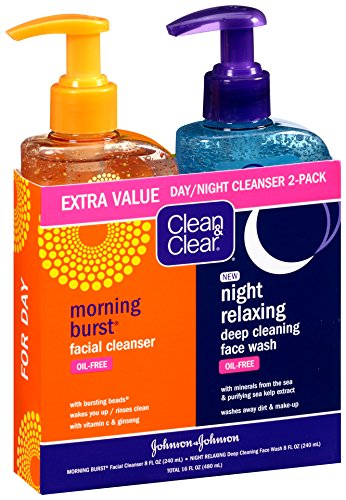 Facewash For Your Oily Skin Clean and Clear Morning Burst, Day Night Pack, 16 Ounce