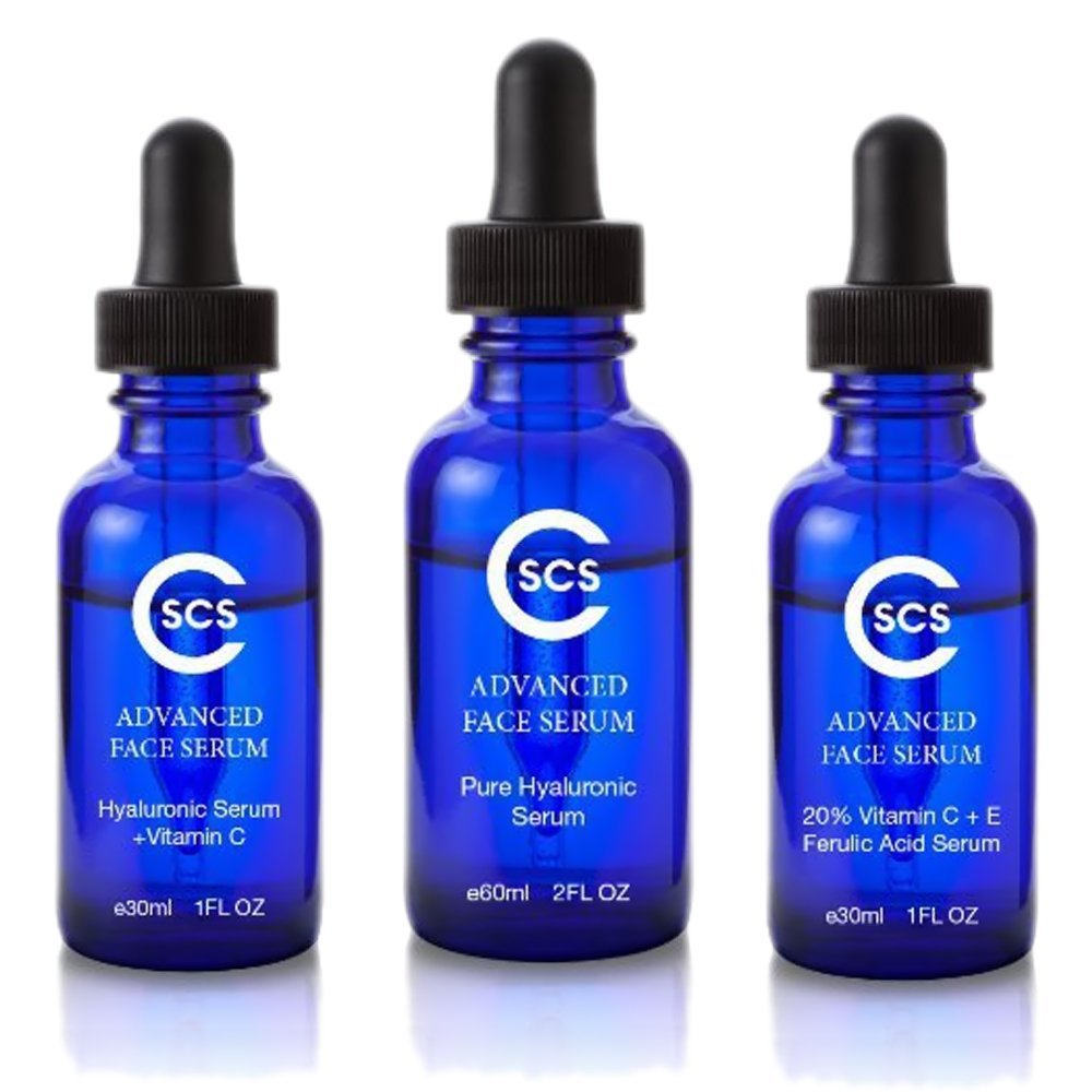 Vitamin C serum for face with Hyaluronic Acid CSCS Hyaluronic Acid with Vitamin C Anti-Aging Serum, 1 fl. oz