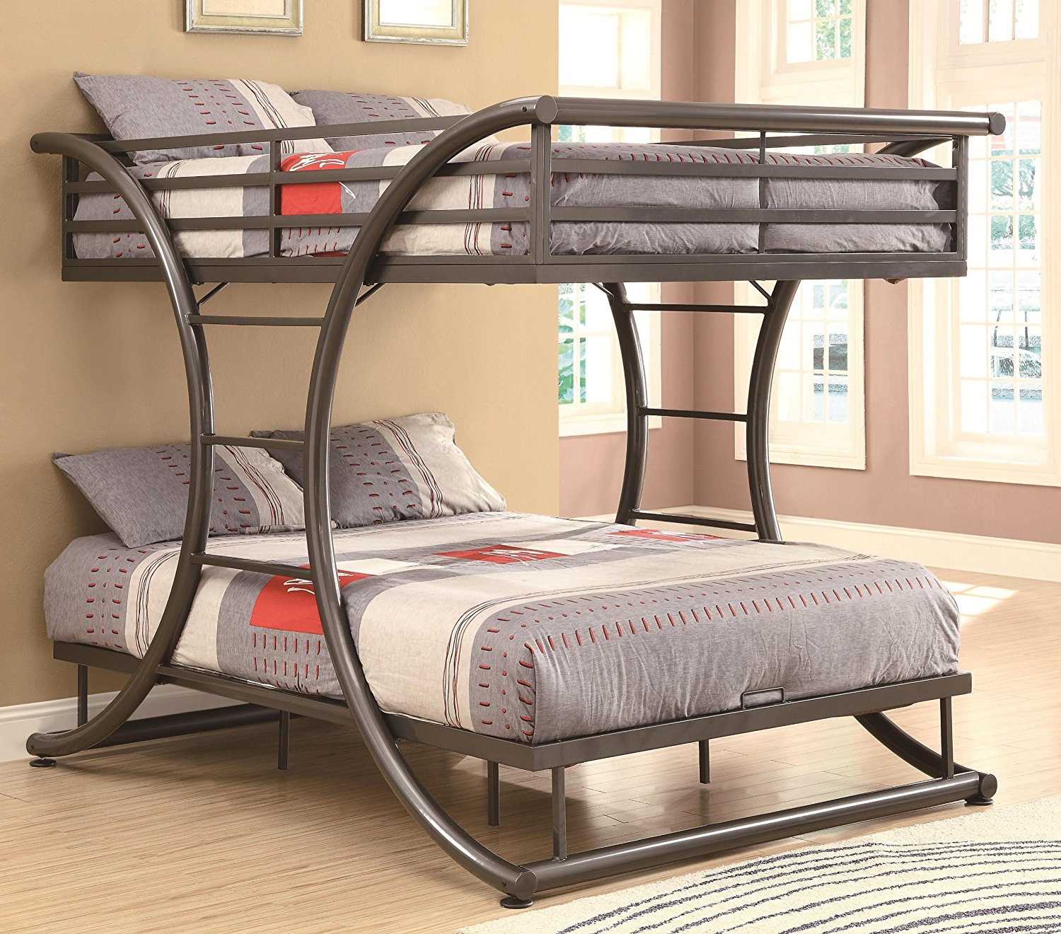 Best Bunk Beds Coaster Home Full over Full Gunmetal