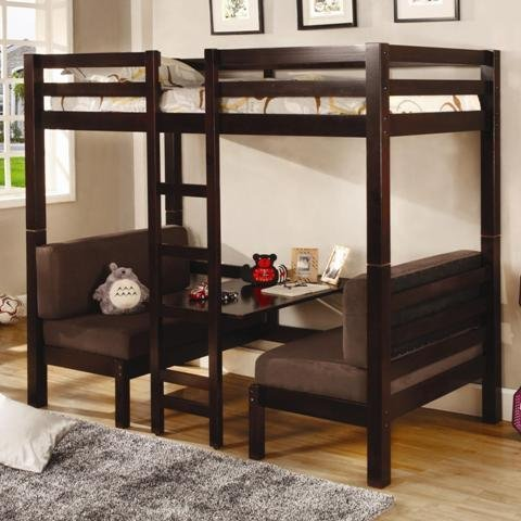 Best Bunk Beds Coaster Home Twin over Twin Workstation Convertible