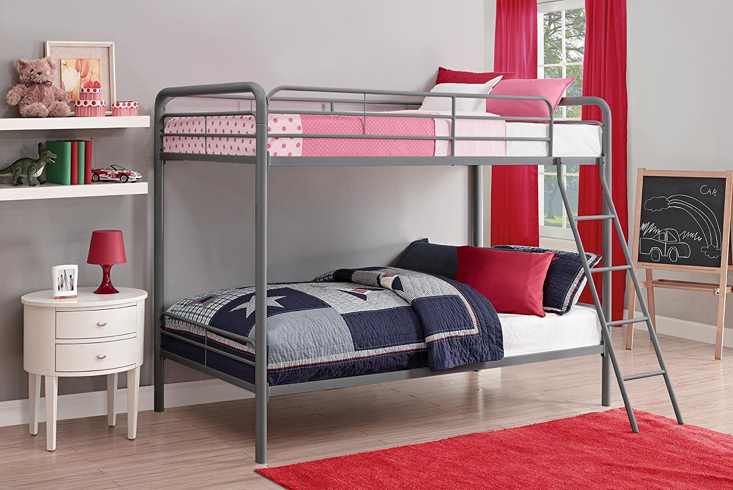Best Bunk Beds DHP Twin-Over-Twin Bunk Bed with Metal Frame and Ladder