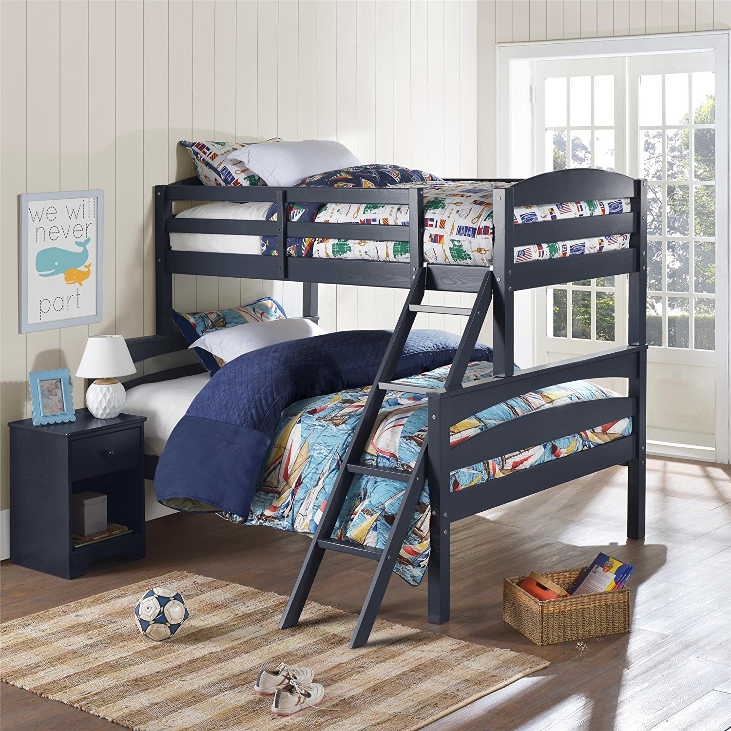 Bunk Beds with Removable Ladder Dorel Living Brady Over Full Bunk Bed