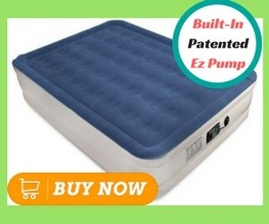 Best Camping Air Mattresses_SoundAsleep Dream Series Air Mattress ComfortCoil Technology & Internal High Capacity Pump