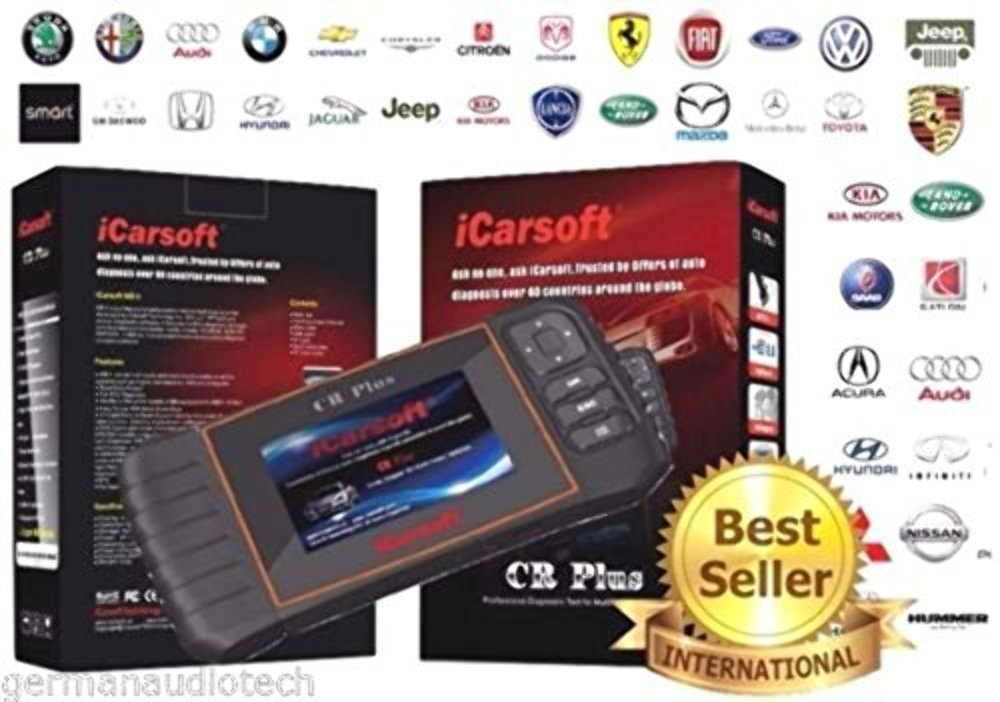 Best Car Diagnostic Tool iCarsoft CR Plus NEW VERSION professional universal OBD2 diagnostic scanner