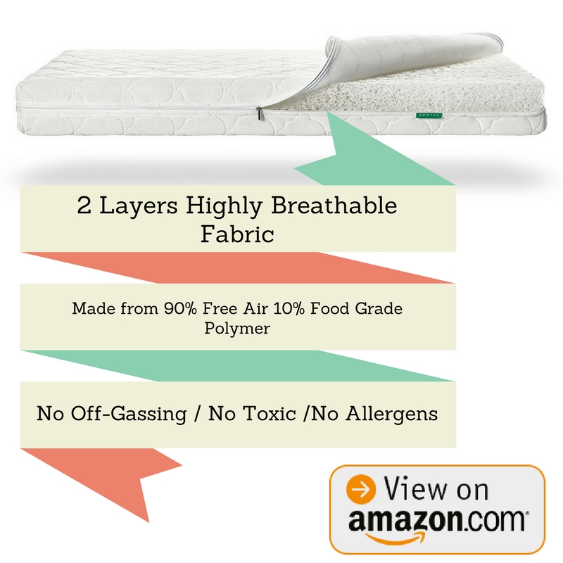 Best Crib Mattress Newton Crib Mattress & Toddler Mattress 100% Breathable Washable Recyclable