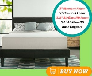 Best Memory Foam Mattress Zinus Memory Foam Green Tea Mattress