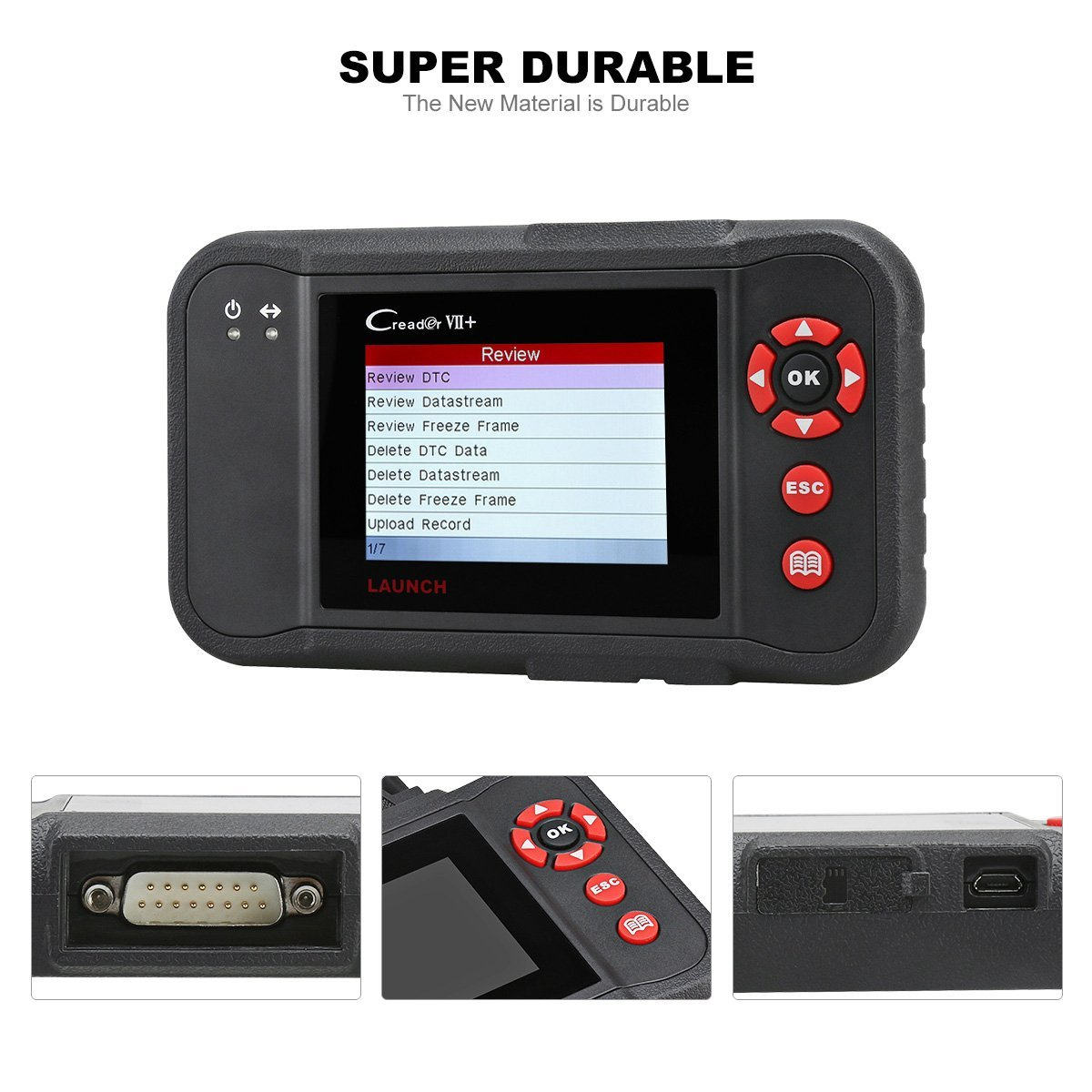 Best OBD 2 Scanner - Launch Code Reader Auto Diagnostic Creader VII Plus - including Full OBD2 Functions & Reading Clearing Codes