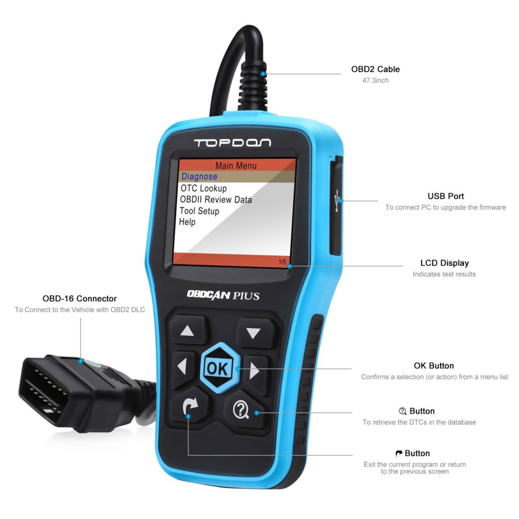 Best OBD 2 Scanners - TT TOPDON CAN (Plus) OBD2 Scanner Basic