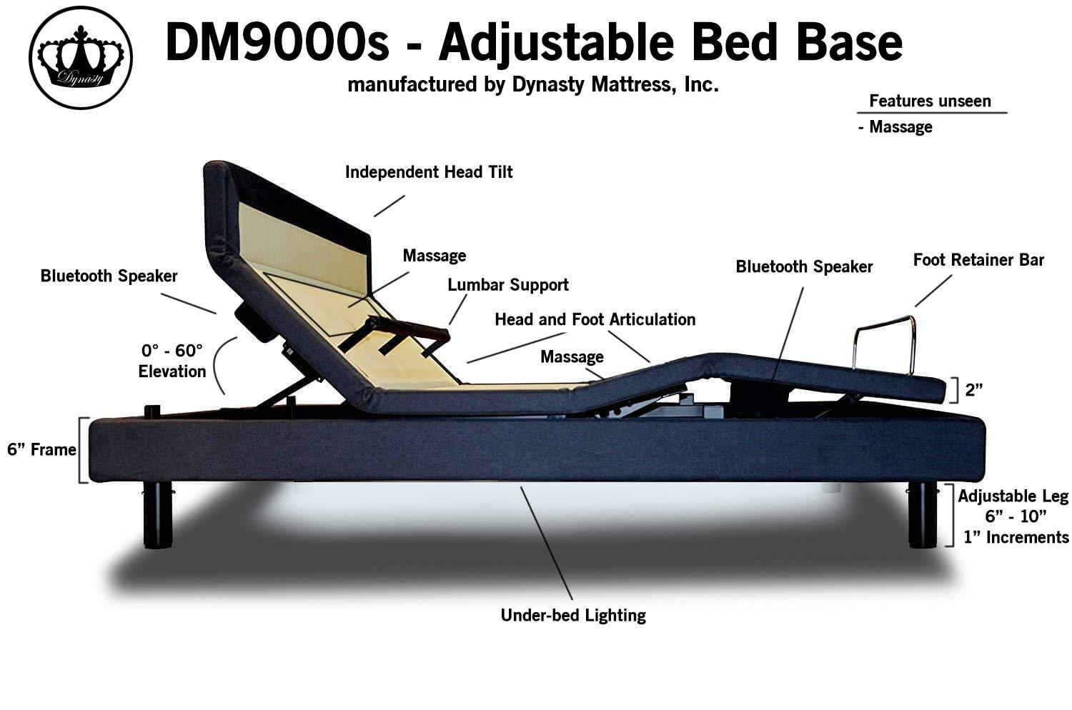 Best Split King Adjustable Beds - DM9000s DynastyMattress