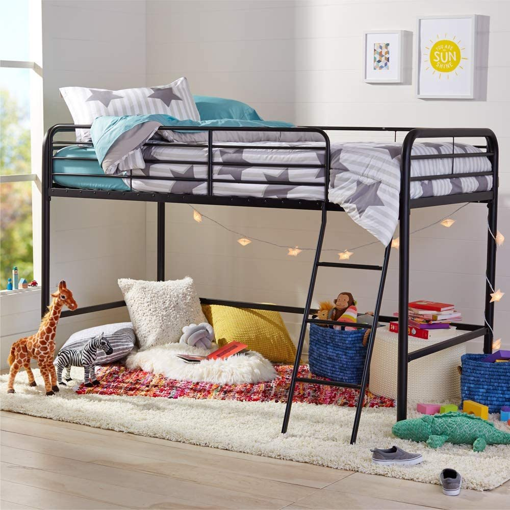 Bunk Beds Under $100 $150 $200 & $300 - AmazonBasics Metal Twin Loft Bed