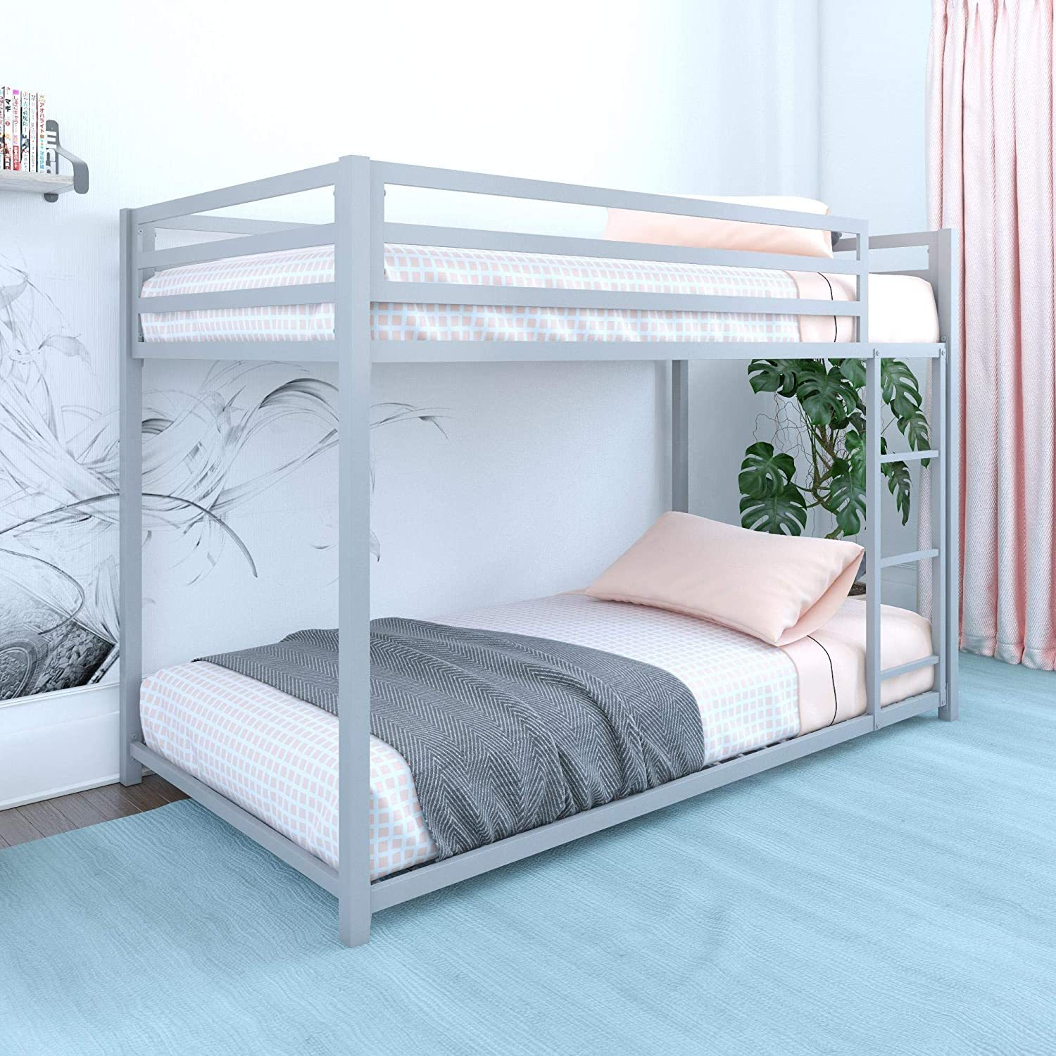 Bunk Beds Under $100 $150 $200 & $300 - DHP Miles Metal Bunk Bed - Twin over twin