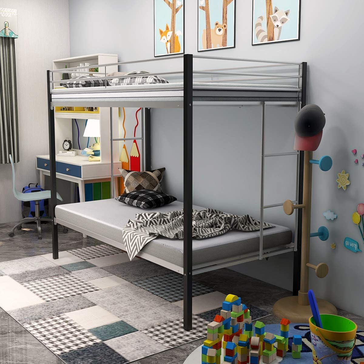 Bunk Beds Under $100 $150 $200 & $300 - JURMERRY Bunk Bed – Twin-over-Twin