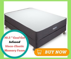 Classic Brands 10.5 Inch Cool Gel Ventilated Memory Foam Mattress, Queen
