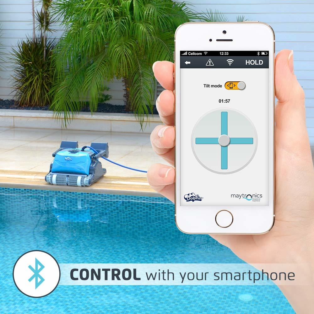 DOLPHIN Oasis Z5i Robotic Pool Cleaner Review - Bluetooth Control