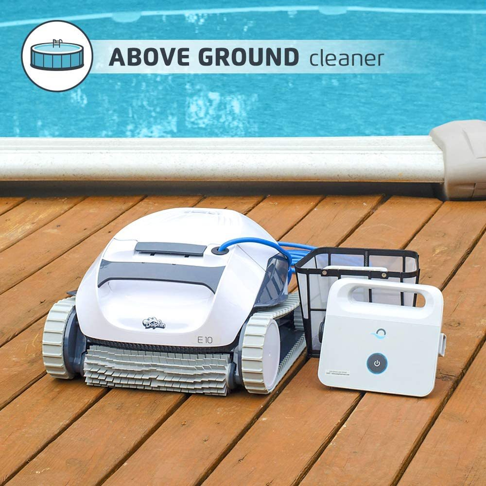 Dolphin E10 Automatic Robotic Pool Cleaner Review - Above ground cleaner
