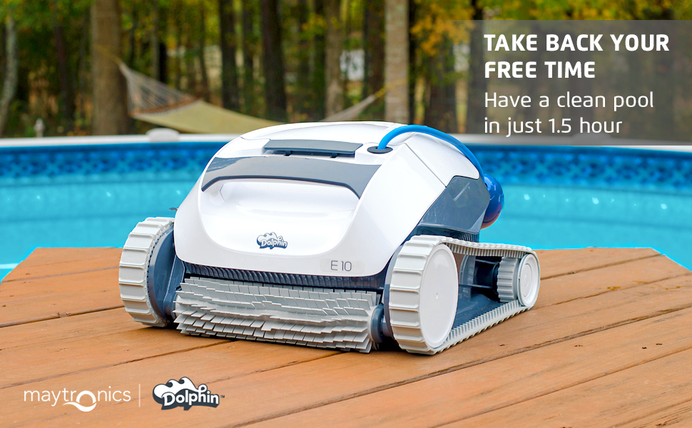 Dolphin E10 Automatic Robotic Pool Cleaner Review - Cleaning time
