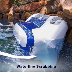 Dolphin Sigma Robotic Pool Cleaner Review - Waterline Scrubbing