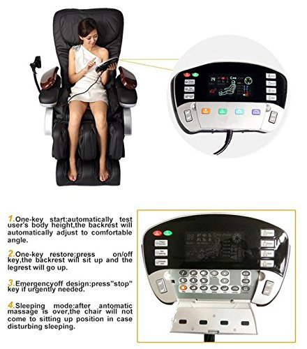 Electric Full Body Shiatsu Massage Chair Features