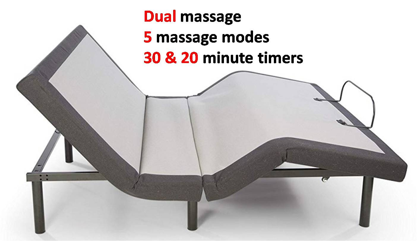 Ghostbed Adjustable Base Reviews - Dual Massage Features