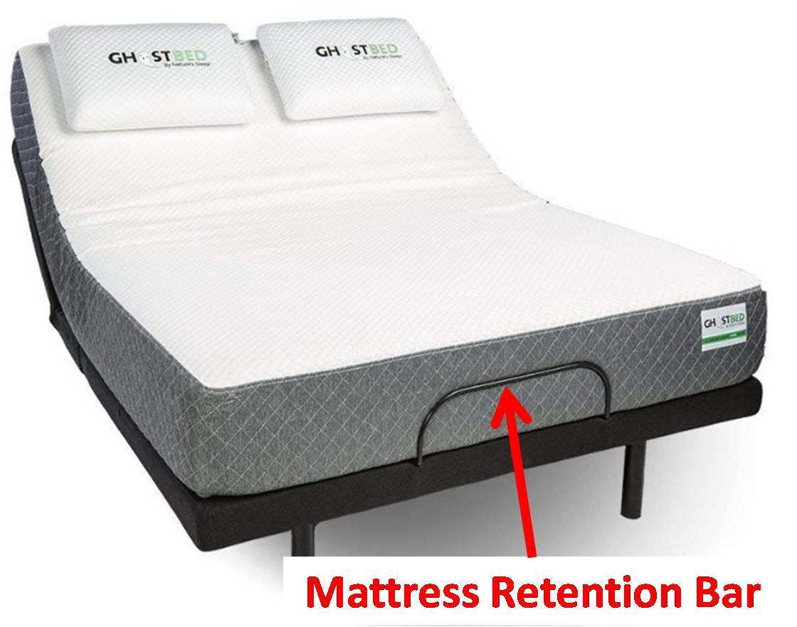 Ghostbed Adjustable Base Reviews - Mattress Retention Bar