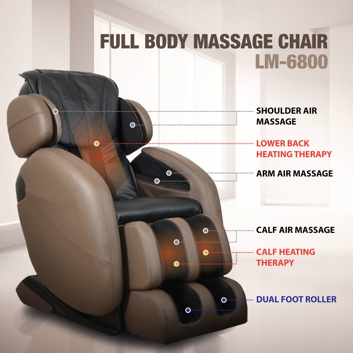 Kahuna LM6800 Full Body Massage Points - Kahuna Massage Chair Reviews