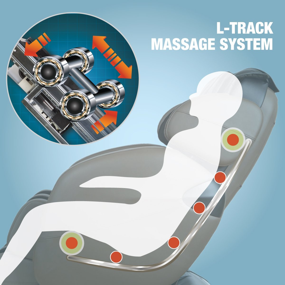 Kahuna LM6800 L-Track Massage System - Kahuna Massage Chair Reviews