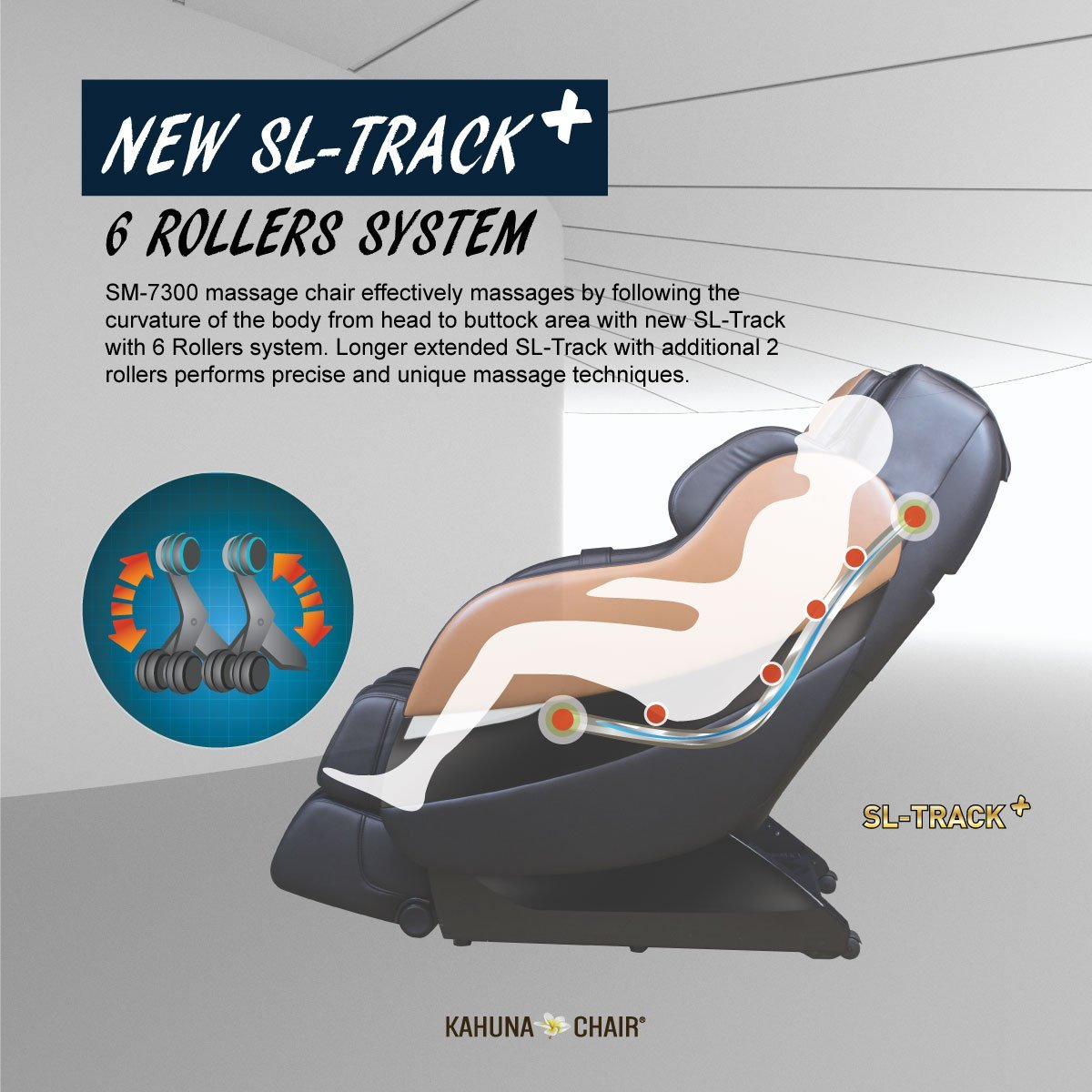 Kahuna SM7300 SL Track Design - Kahuna Massage Chair Reviews