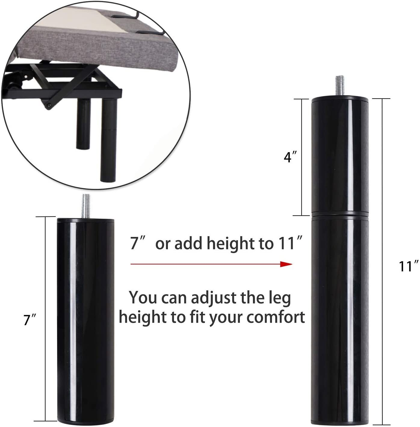 Kamots Beauty Adjustable Bed Review - Height adjustability