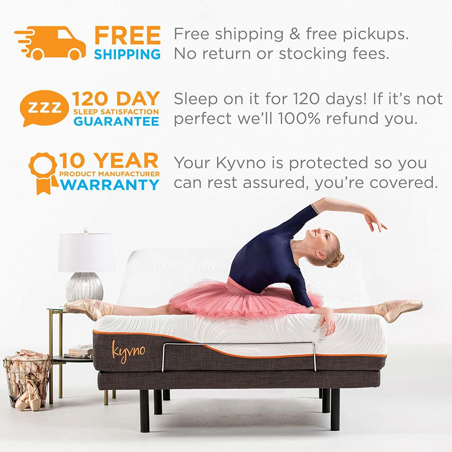 Kyvno Adjustable Bed Reviews - Warranty & Trial Period