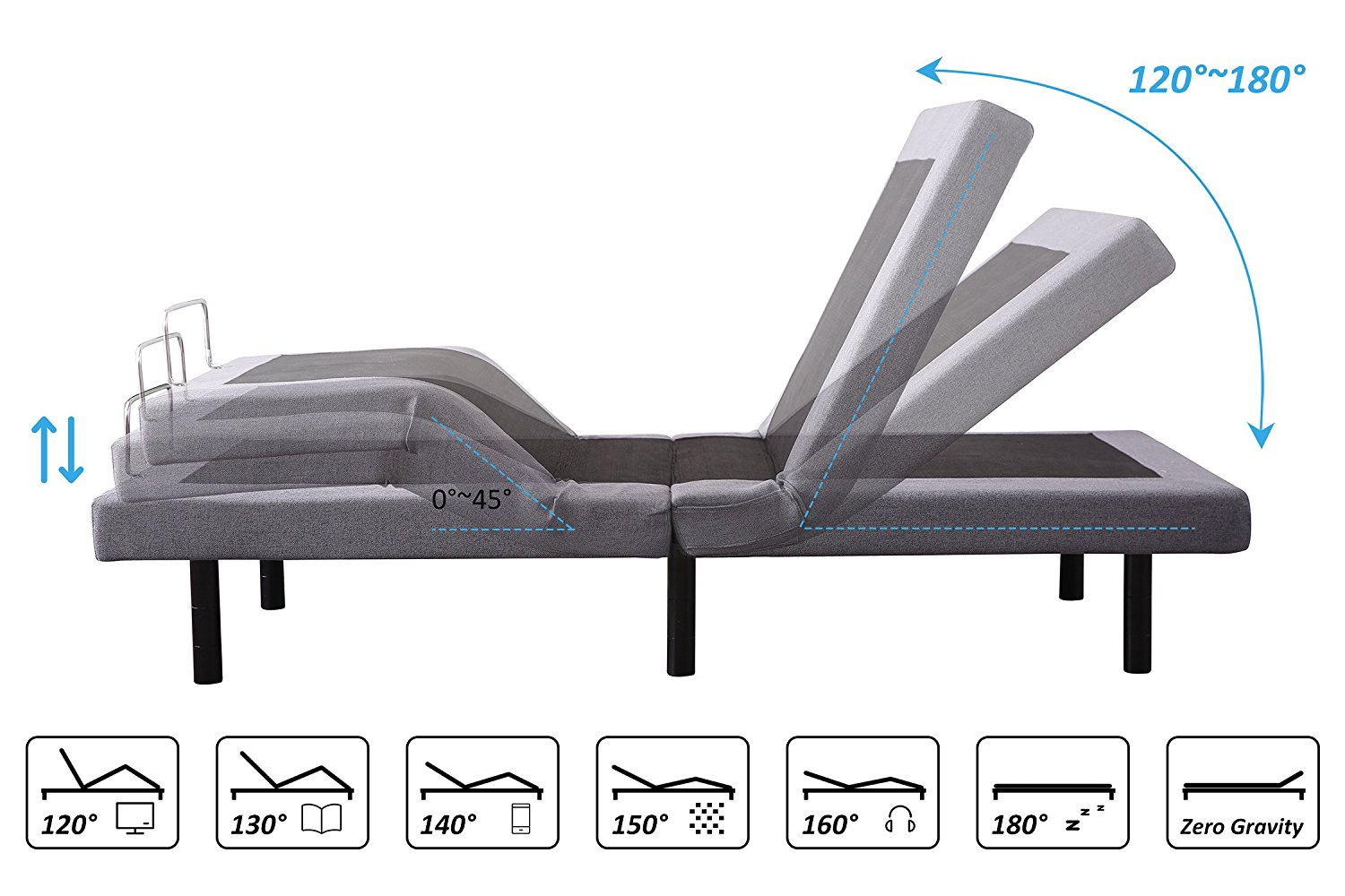 Leisuit Adjustable Bed Frame Head & Feet Adjustments