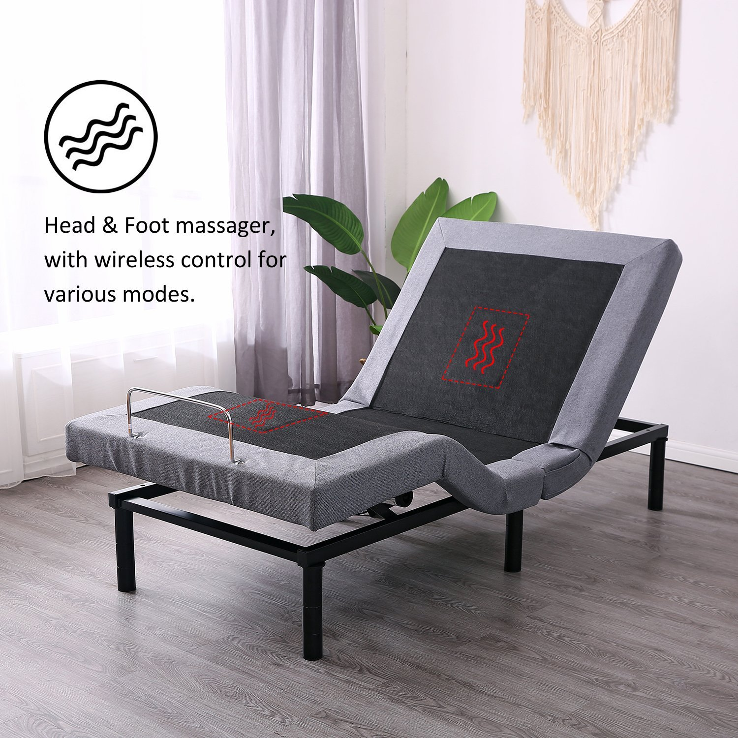 Leisuit Adjustable Bed Frame Massage Functionality