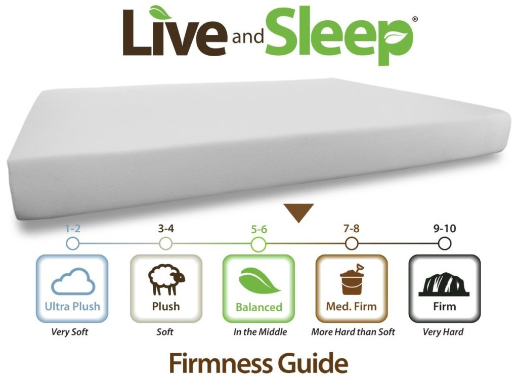 Live and Sleep - Resort 10-Inch Memory Foam Mattress Review Firmness