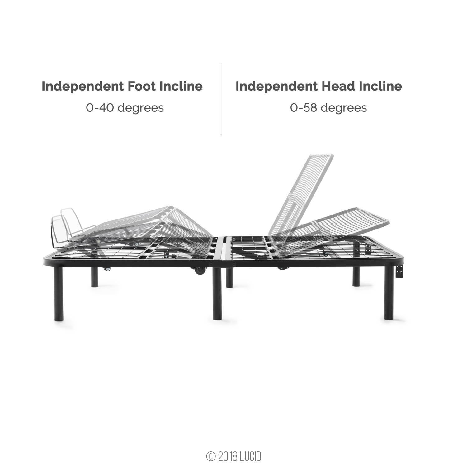 Lucid L100 Adjustable Bed Head & Feet Articulation - Inexpensive Cheap Adjustable Beds