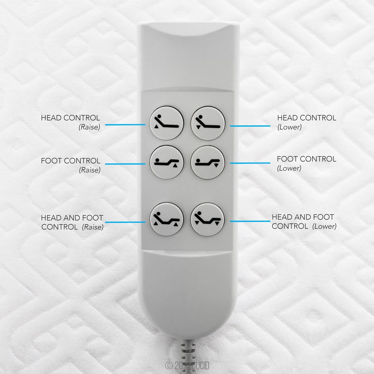 Lucid L100 Adjustable Bed Remote Control - Inexpensive Cheap Adjustable Beds