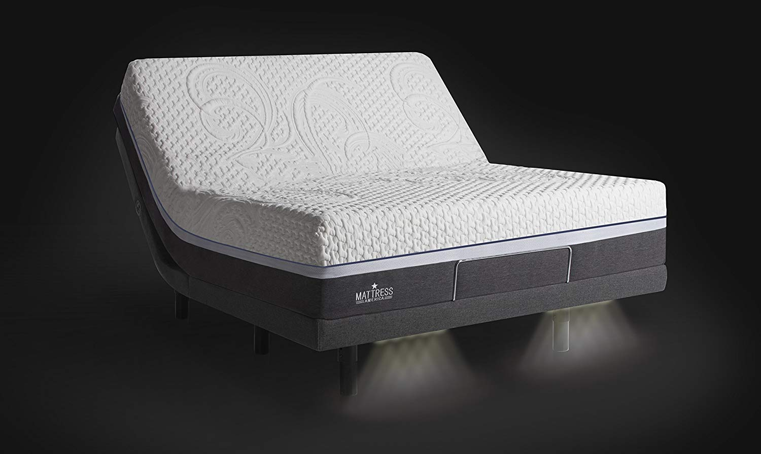 Mattress America Adjustable Bed Reviews - Under-the-bed lighting system