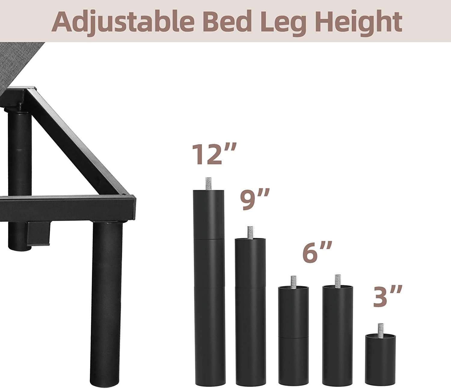 Mecor Adjustable Bed Frame Review - Height Adjustability