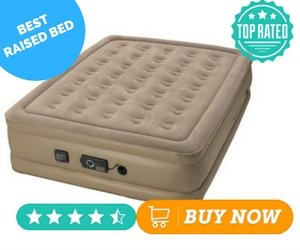 Most Comfortable Air Mattress Insta-Bed Raised Air Mattress with Never Flat Pump