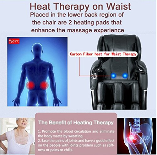 Mr Direct Electric Full Body Shiatsu Massage Chair Review Heat Therapy
