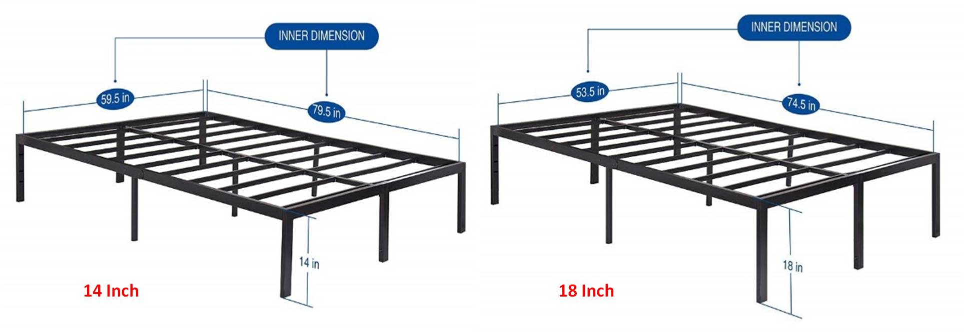 Olee Sleep Bed Frame Reviews T 3000 14 Inch And 18 Inch