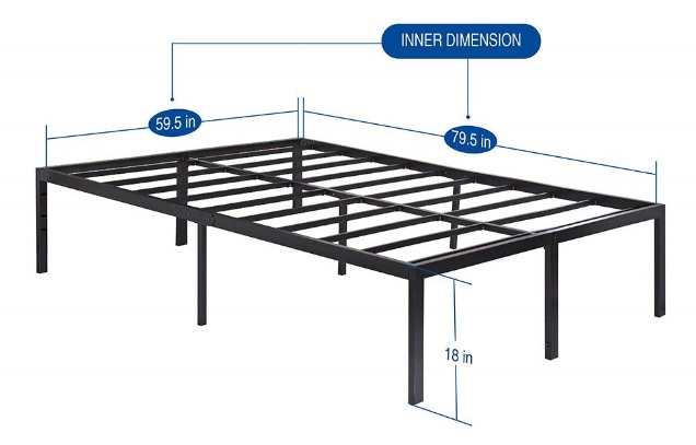 SLEEPLACE Bed Frame Review - Under the Bed Storage