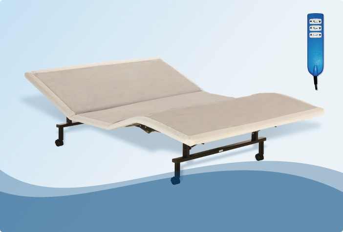ShipShape Adjustable Bed Base with Ultra-Quiet Motor and Wired Remote L&P