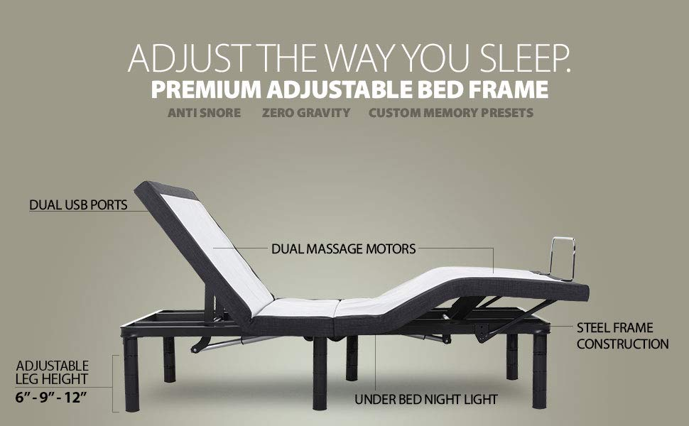 Split King Adjustable Beds Reviews - Blissful Nights Adjustable Bed