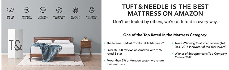 Tuft and Needle Mattress Features - Tuft and Needle Vs Purple