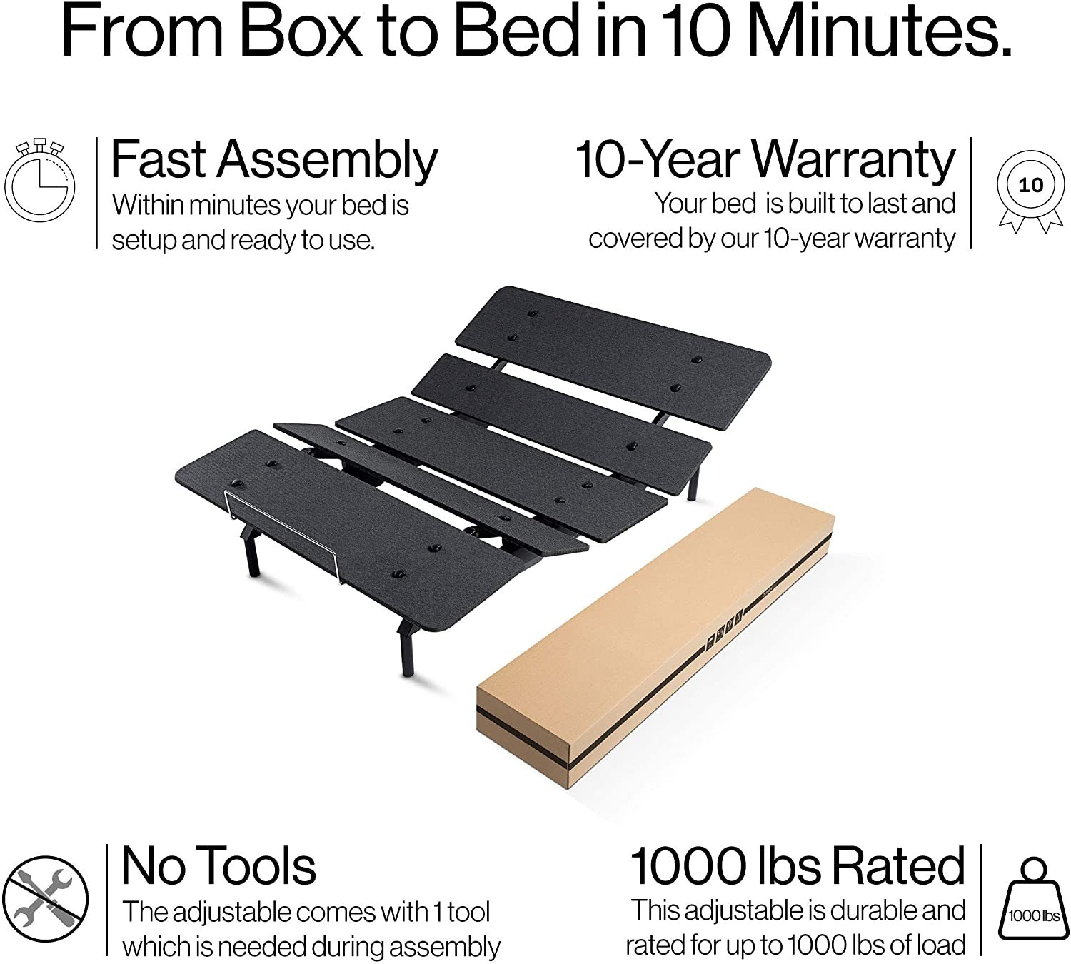 Yaasa ONE Adjustable Bed Reviews - Important features